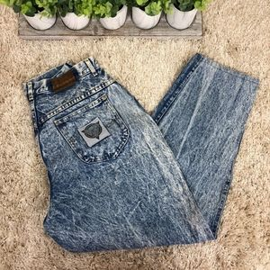 Lee Skyrider Vintage Denim Mom Acid Wash Jeans